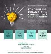 SAVE THE DATE: Roadshow di Fondimpresa ABRUZZO